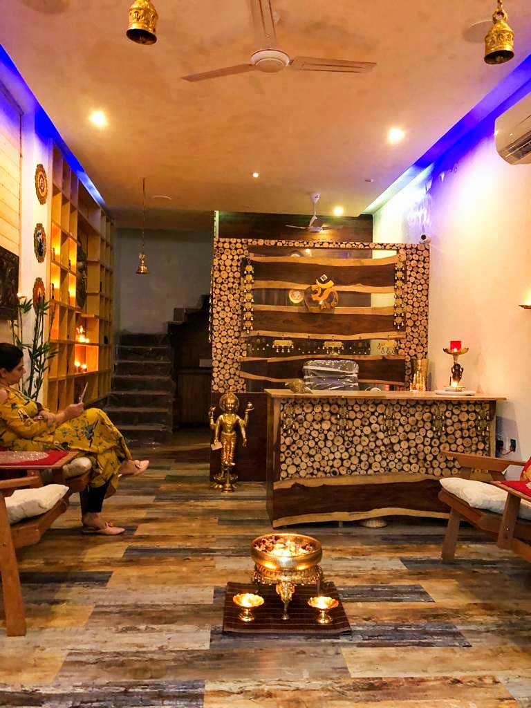 Rishikesh Ayurvedic Organic Spa Sky Cafe Vedic Library Reception at Veda5